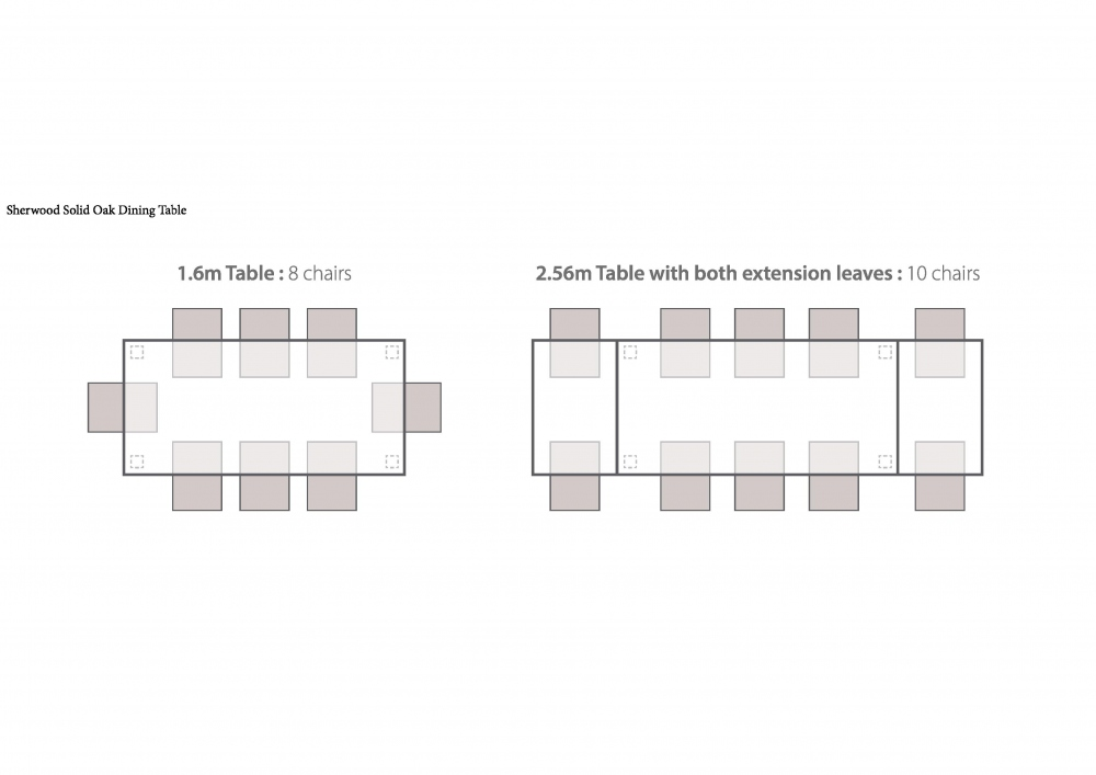 Table sizes & Seating Plans