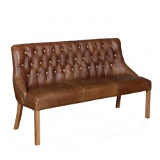 Stanton 3 Seat in Brown Leather