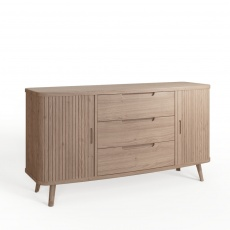 Tambour Grey Sideboard