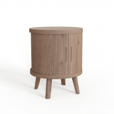 Tambour Grey Lamp Table