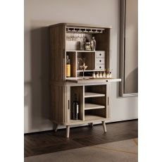 Tambour Grey Desk - Base Unit