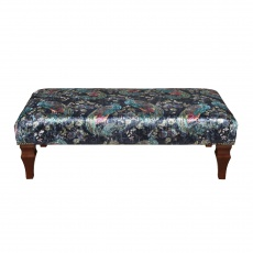 Banquet Buttoned Footstool Large
