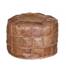 Bean Bag Drum in Brown Cerato Leather