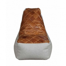 Bean Bag Pod Chair in Brown Cerato Leather