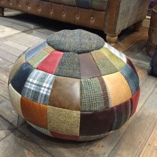 Beach Ball Bean Bag Leather Mix & Wool Mix