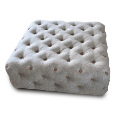 Chester Club Square Buttoned Footstool