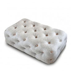 Chester Club Rectangle Buttoned Footstool