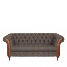 Chester Club 2 Seater Sofa - Moreland Harris Tweed - Fast Track Delivery