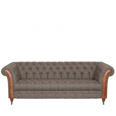 Chester Club 3 Seater Sofa -Moreland Harris Tweed - Fast Track Delivery