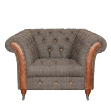 Chester Club Chair - Moreland Harris Tweed - Fast Track Delivery
