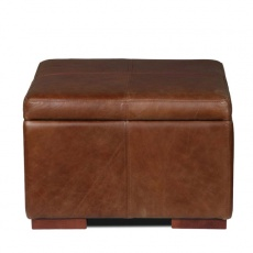 Classic Vintage Square Storage Footstool 60x60