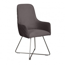Utah Chair in Steel Plush