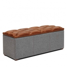 Cube Storage Bench with Buttoned Top