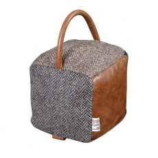 Doorstop Square HTP/Leather Patchwork