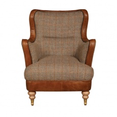 Ellis Snug Chair - Hunting Lodge Harris Tweed - Fast Track Delivery