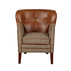 Elston Chair - Hunting Lodge Harris Tweed - Fast Track Delivery