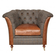 Granby Chair - Moreland Harris Tweed - Fast Track Delivery
