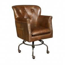 Gladiator Office Chair in Vintage Jet Brass