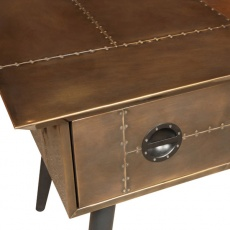 Aviator Hornet Desk in Vintage Jet Brass