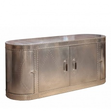 Aviator Sideboard in Jet Silver