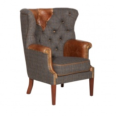 Kensington Chair - Moreland Harris Tweed - Fast Track Delivery