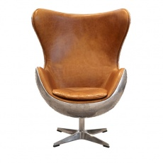 Keeler Wing Desk Chair in Jet Silver