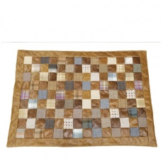 Patchwork Rug Patchwork Leather & Wool Mix 120 x 170