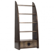 Avaitor Wing Bookcase in Vintage Jet Brass