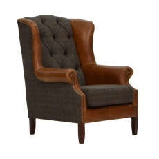 Wing Armchair - Moreland Harris Tweed - Fast Track Delivery