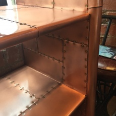 Avaitor Wing Bookcase in Vintage Copper
