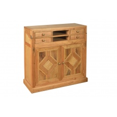 Welbeck Campaign Desk with Marble Inlay
