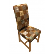 Retford Patchwork Chair (Wool & Leather Mix)