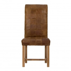 Retford Leather Patchwork Chair
