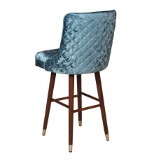 Clare Bar Stool with Quilted Back