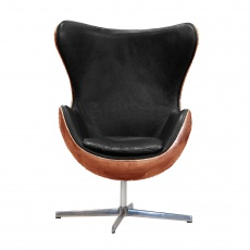 Keeler Wing Desk Chair in Copper