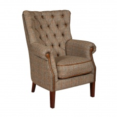 Hexham Chair - Hunting Lodge Harris Tweed - Fast Track Delivery