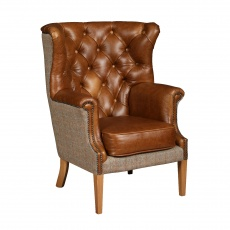 Winchester Chair  - Hunting Lodge Harris Tweed - Fast Track Delivery