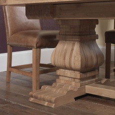 Windermere Rustic Monastery Extending Dining Table