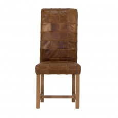 Rollback Patchwork Chair  3L Leather