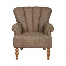 Lily Petite Size Chair - Hunting Lodge Harris Tweed - Fast Track Delivery