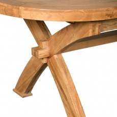 Windermere Oval X Leg Extending Dining Table