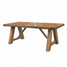 Monastery Refectory Grey Oiled Table 2200