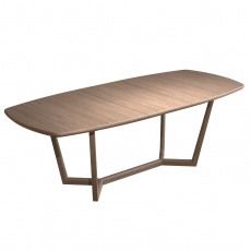 Holcot Oval Extending Dining Table - Grey Finish