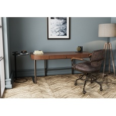 Devizes Retro Leather Topped Desk