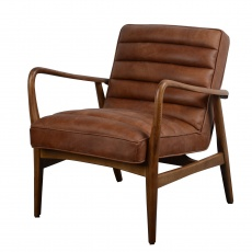 Ribble Chair Local Brown Leather - New 2021