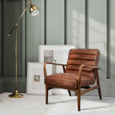 Ribble Chair Local Brown Leather
