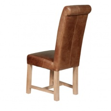 Rollback Chair with Cerato Brown Leather