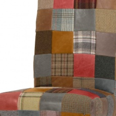 Rollback Patchwork Chair Leather Mix & Wool Mix