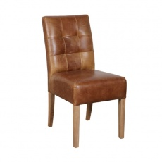 Colin Chair - Cerato Leather in Brown or Grey