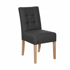 Colin Chair - Faux Leather in Grey or Brown